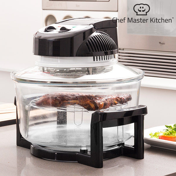 Convection Oven Chef Master Kitchen 12 L 1200-1400W Black Transparent