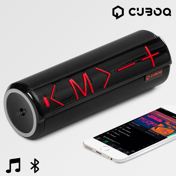Bluetooth Speaker with CuboQ Cylinder Stand