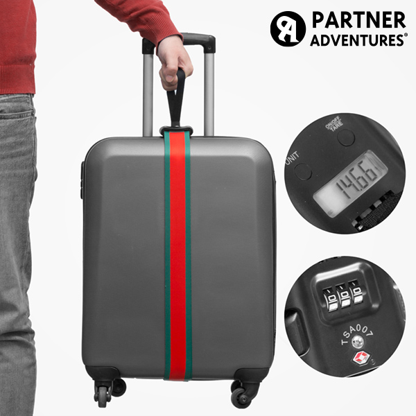 Partner Adventures Luggage Strap with Integrated Weighing Scale and Security Code